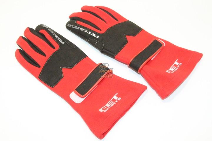 FET 3D Racing Gloves - Red Black Medium