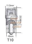 Cyber Stork Micro LED Bulb Gauge Cluster Meter - T10 Super White