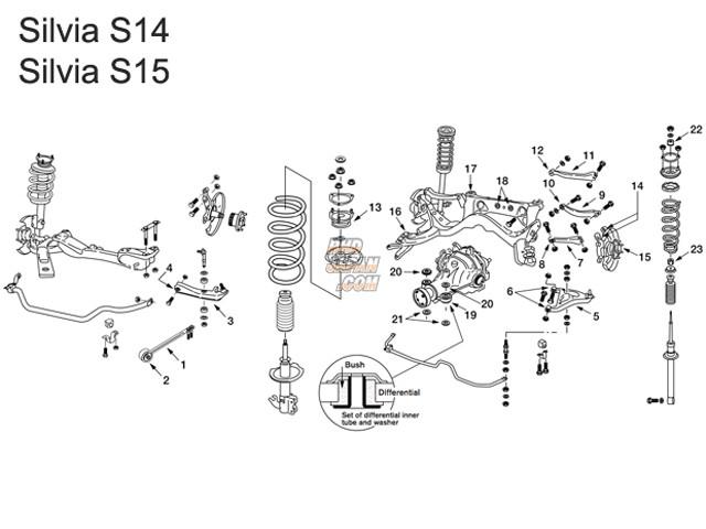 Nismo Rear Lower A-Arm Standard Set - S14 S15 R33 R34 WC34