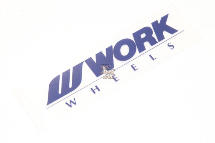Work Wheels Japan Disc Sticker Meister S1 - Blue