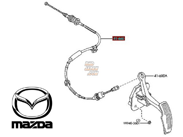 Mazda OEM Throttle Cable 660D