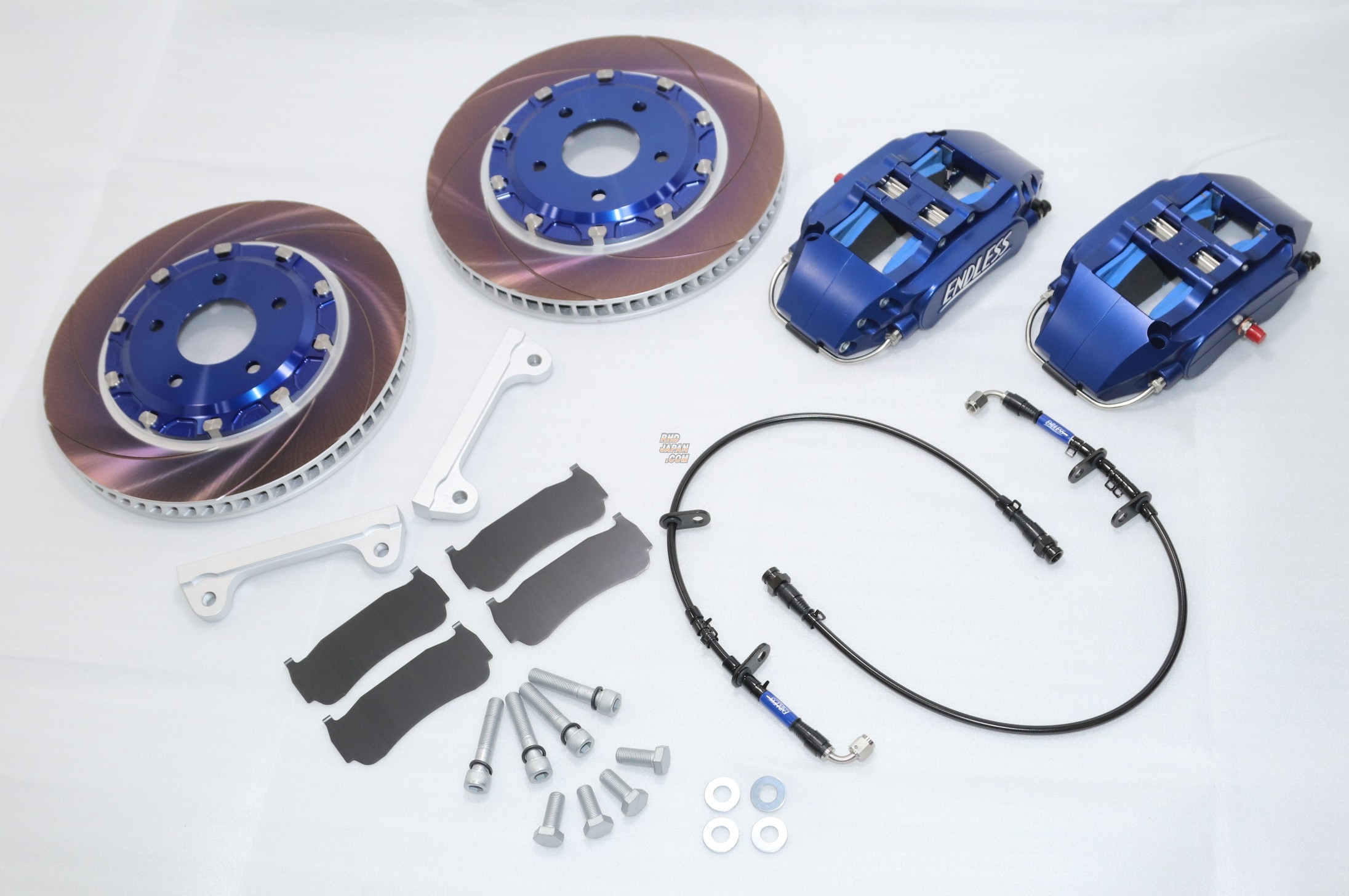 Endless Chibi6 Caliper Kit System Inch Up Kit 296 x 32 1pc Rotor SSM Pads Blue Almite - S15