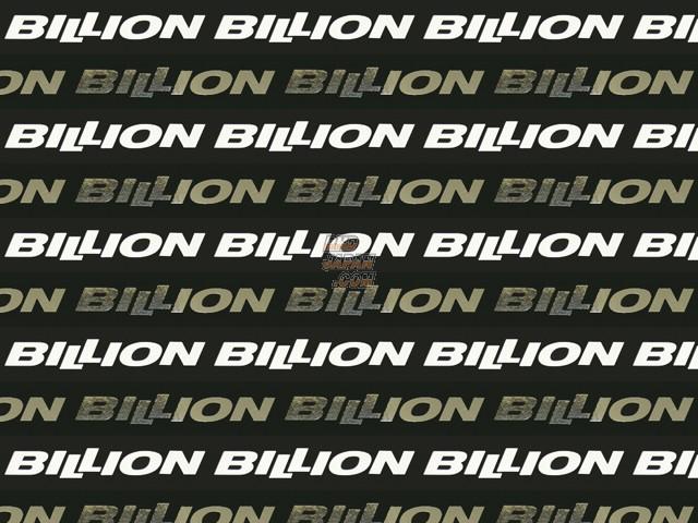 Billion GT Spec Large Logo Sticker - White