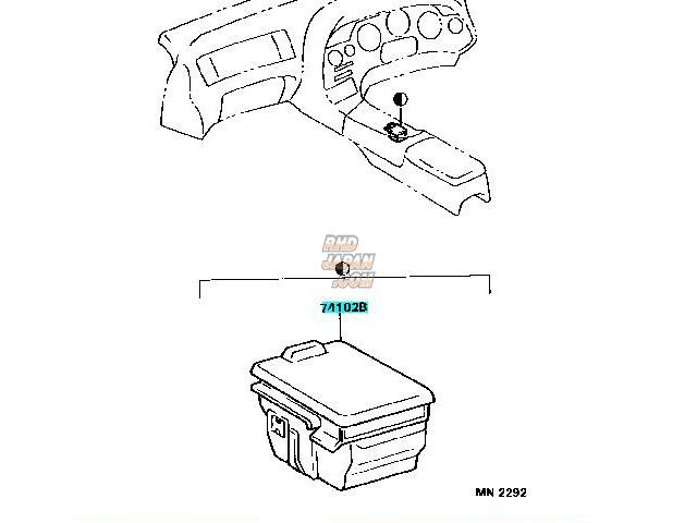 Toyota OEM Front Ash Receptacle Box - JZA80