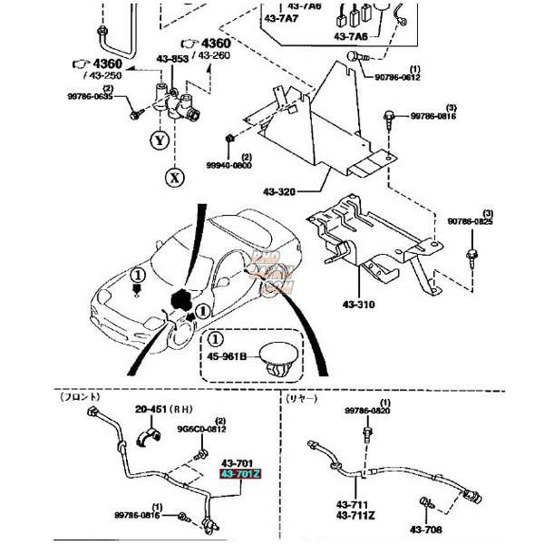 MAZDA OEM ABS Sensor - Front Left RX-7 FD3S Type VI