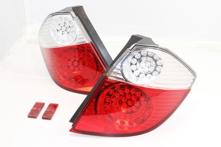 StellarV Full LED Clear/Red Tail Lamps - Fit GE6 FE7 GE8 GE9