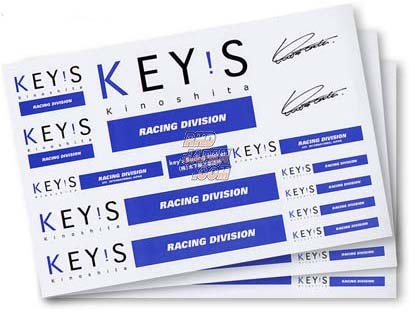 KEY`S Racing Sticker Sheet