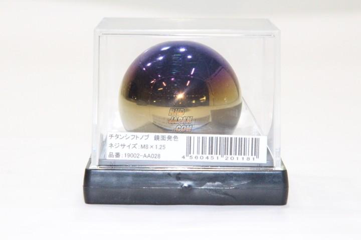 ARC Brazing Circular Mirror Finish Titan Shift Knob 45mm - M8x1.25