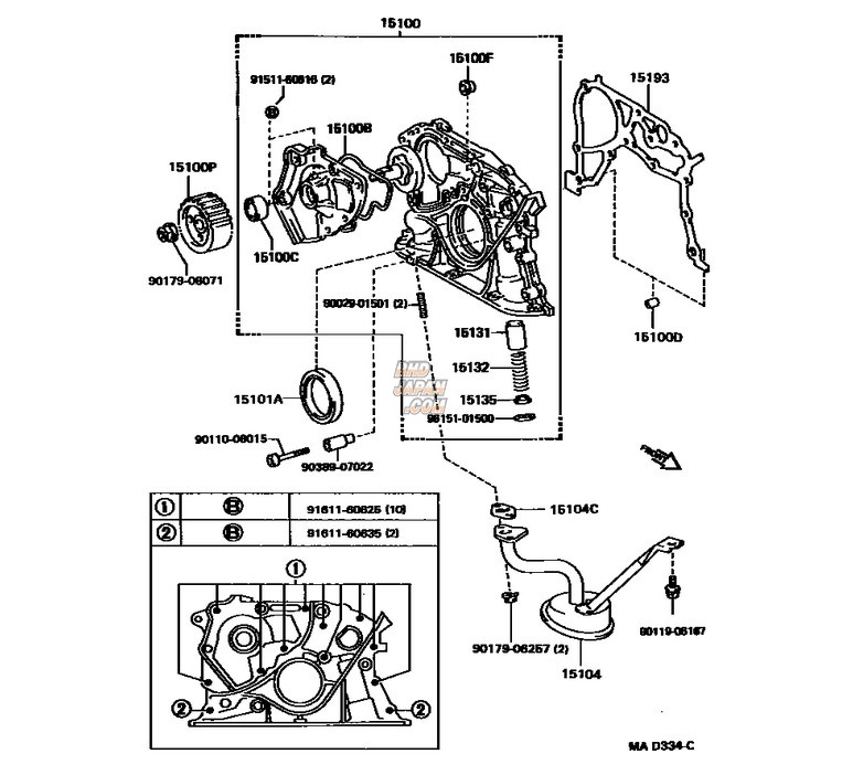 Toyota Oem Oil Pump Assy - 3sgte
