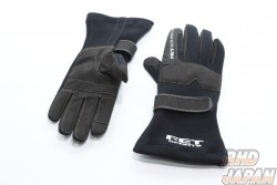 FET 3D Racing Gloves - Black Black Small