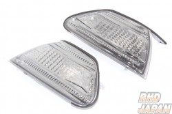 Clear World Front Crystal Corner Lamp Smoked - JZX100 Mark II