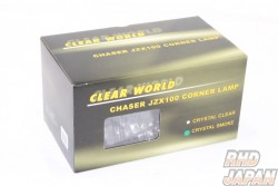 Clear World Front Crystal Corner Lamp Set Smoked - JZX100 Chaser