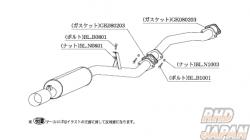 Kakimoto Racing Exhaust Muffler Replacement Bolt - B1001