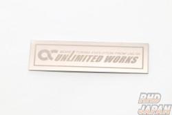 Unlimited Works Original Logo Plate Emblem - Titanium