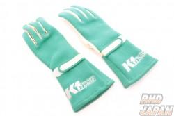 K1 Planning Racing Gloves - Green Large