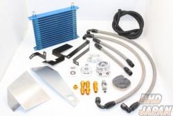 Trust GReddy Oil Cooler & Filter Relocation Kit Left Fender 10 Row - BNR34