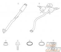 Mugen Sports Exhaust System - FK7
