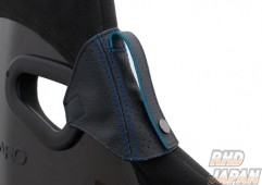 VENUS Jade Seat Belt Guide Recaro Seat SP-G RS-G TS-G SR-7 SR-7F Sportster - Real Leather Punching Type Blue Stitch