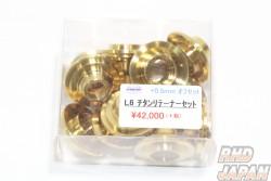 Kameari L-Type Lightweight Valve Retainers Set Titanium Offset +0.5mm - L20 to L28