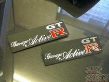 Garage Active Original Logo Plate For Floor Mat & Trunk Mat - BNR32