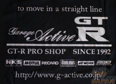 Garage Active Original T-Shirt - Black Cotton Large Size