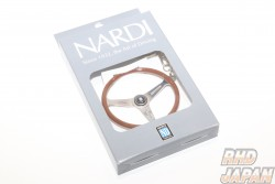 NARDI Classic Steering Wheel Replica Keyring - Wood Grip Polish Spoke