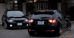 Valenti Rear Jewel LED Tail Light Revo Set Light Smoke / Black Chrome - GRB GH8