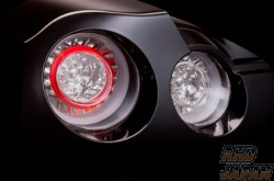 Valenti Jewel LED Tail Lamp Set Revo Clear Red Chrome - R35
