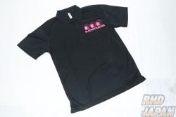 G-Corporation Obake Dry Polo Shirt Pink Logo - L
