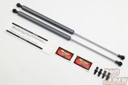 Kunny's Bonnet Damper Set Silver Carbon Fiber For OEM Bonnet - JZX90 JZX100