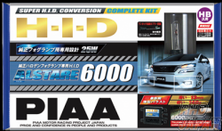 PIAA Alstare 6000K Super H.I.D. Conversion Complete Kit for Fog Lamp - H8 H11