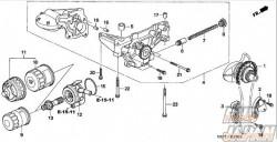 Honda OEM Oil Pump Chain Guide - K20A K24A