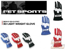 FET 3D Light Weight Gloves Blue/White - S Size