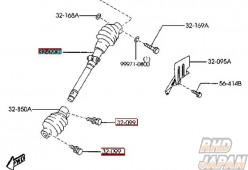 Mazda OEM Intermediate Shaft 090A FD3S