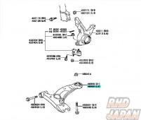 Toyota OEM Left Side Front Lower Arm No.1 Sub Assembly ZZT231 Super Strut
