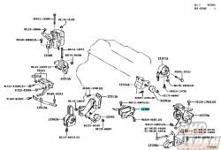 TOYOTA OEM Engine Mount - Center Caldina ST246W 3S-GTE