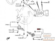 Mazda OEM Engine Mount Rubber Right Side 050B - FD3S