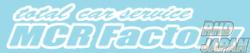MCR Factory Total Car Service Sticker - Big