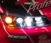 78 Works Light Bar Headlight Set Chrome - S15