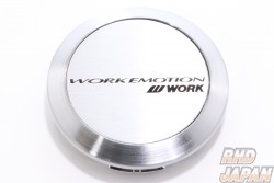 Work Wheels Japan Work Emotion Center Cap Flat Silver - XT7 11R CR Kiwami D9R