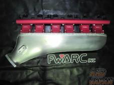 Flatwell Super Intake Manifold Red - JZA80