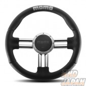 MOMO V6 Steering Wheel 350mm - Chrome