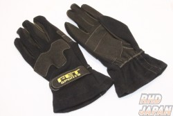 FET 3D Light Weight Gloves Black/Black - S Size