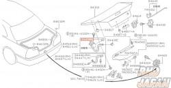Nissan OEM Trunk Lid Bumper Rubber Hinge - R34 B14 B15 A33 Y32 Y33