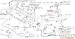 Nissan OEM Upper Arm Link Inner Bolt - 54550AA
