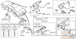 Nissan OEM Key Lock Cylinder Set - Silvia S15