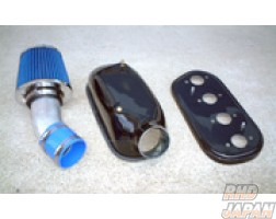 Noby Booth 4 Throttle Induction Box & Filter Set FRP - AE86 16 Valve Engine