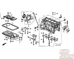 Honda OEM Engine Mount Bracket Bolt A - Civic CR-V