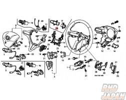 Honda OEM Steering Wheel Audio Switch Lid Assy - Civic FD2