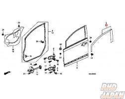 Honda OEM Door Sash Tape Set Front Left - FD2